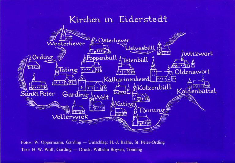 Übersicht der Kirchen in Eiderstedt