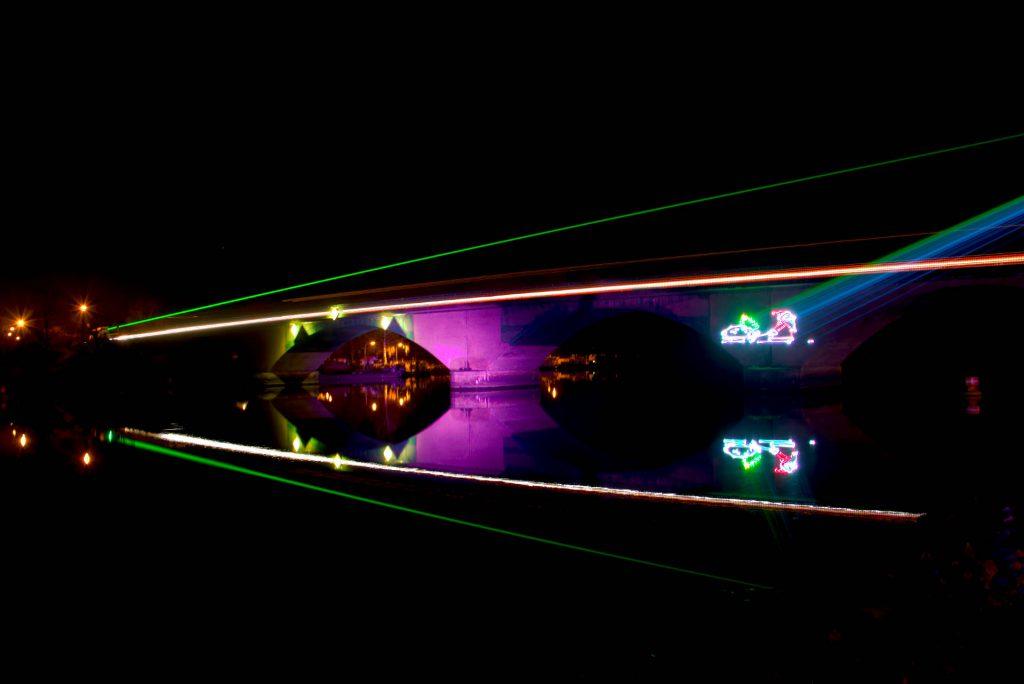 Beleuchtung der Stadtbrücke Schwedt-Oder