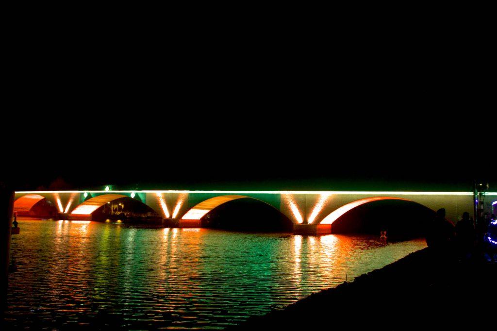 dauerhafte Beleuchtung der Stadtbrücke Schwedt-Oder 2