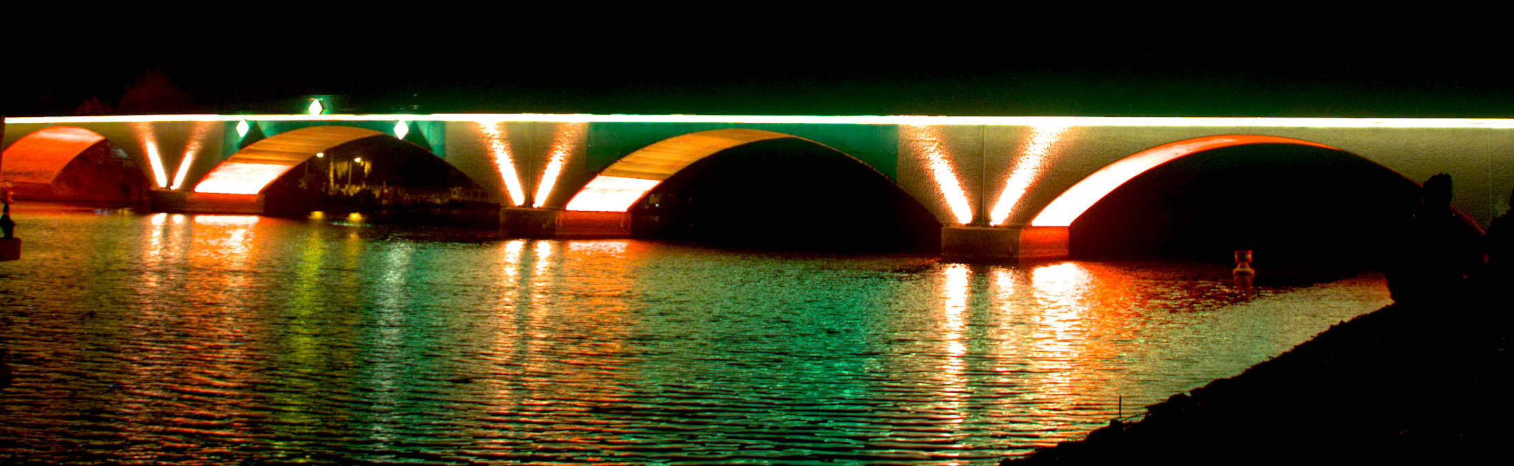Einweihung der illuminierten Stadtbrücke Schwedt/Oder