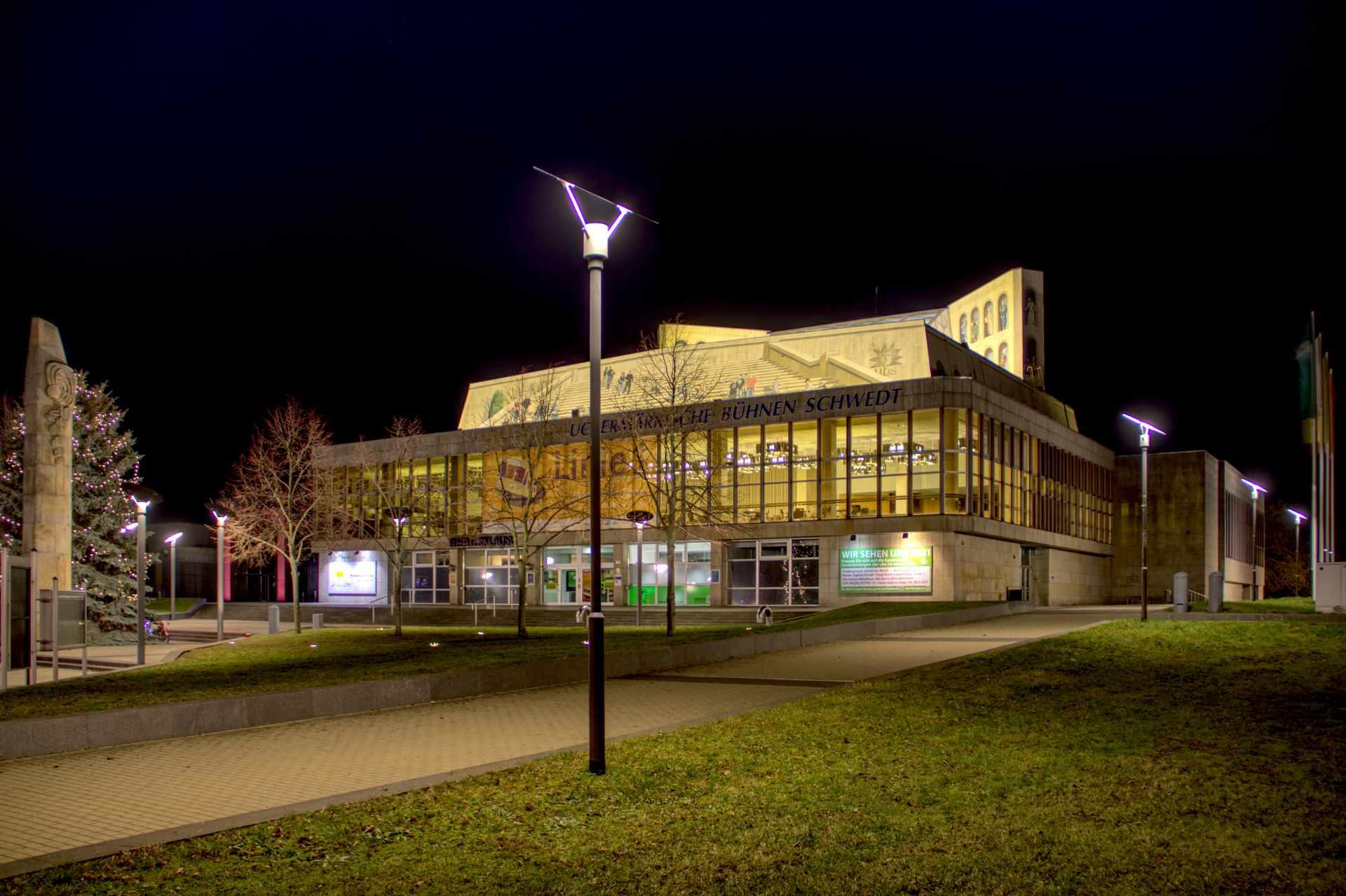 Beleuchtung UBS Schwedt Außenbereich