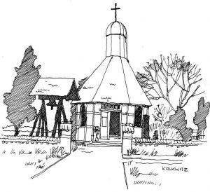 Kapelle-Peenemünde Usedom, Zeichnung von Clemens Kolkwitz