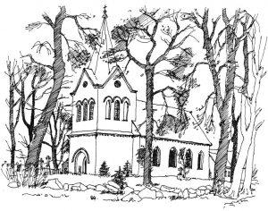 Kirche-Stolpe Usedom, Zeichnung Clemens Kolkwitz